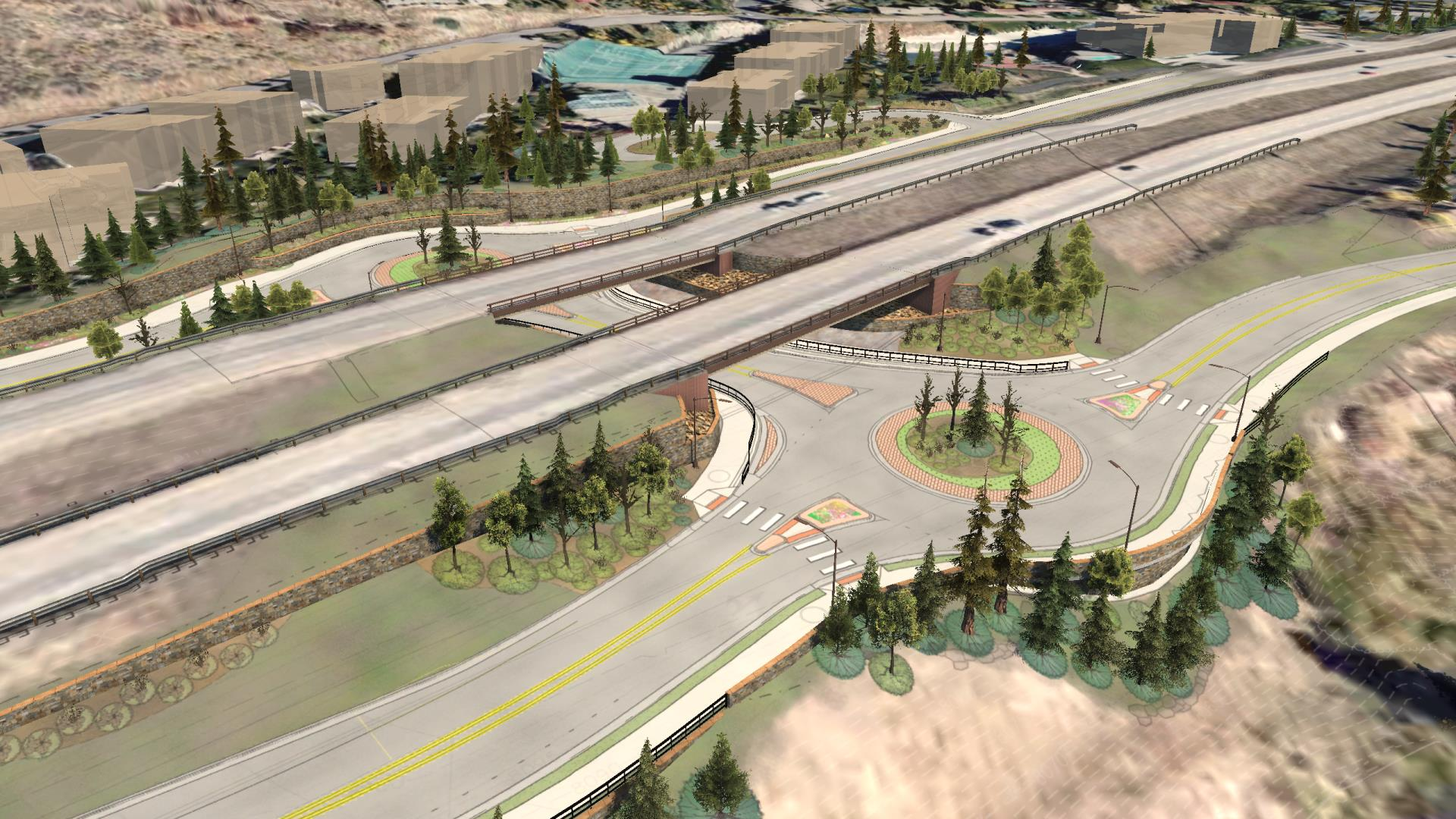 I-70 Vail Underpass Rendering